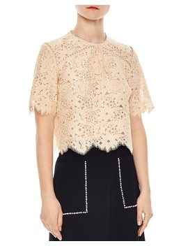 Utopie Scalloped Lace Top by Sandro