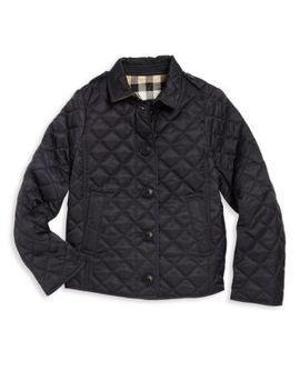 Little Girl's & Girl's Quilted Jacket by Burberry