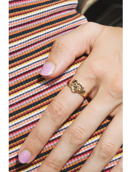 Gold Heart Ring by Brandy Melville