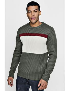 Colour Block Long Sleeve Jumper by Boohoo