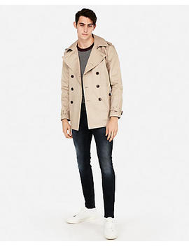 Tech Short Length Trench Coat by Express