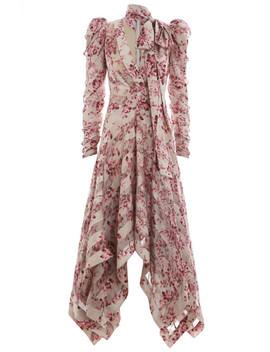Unbridled Chevron Silk Dress by Zimmermann