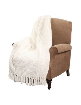 Boon Cable Knitted Couch Cover Throw Blanket by Generic