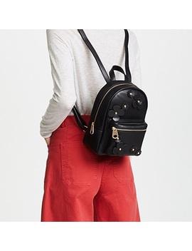 Floral Appliqué Mini Backpack by Studio 33