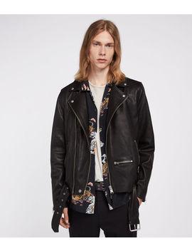 Wick Leather Biker Jacket by Allsaints