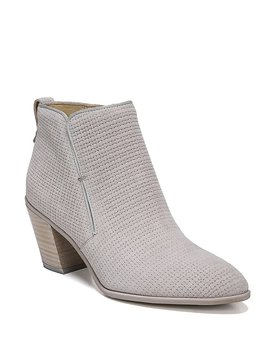 Orchard Fabric Block Heel Booties by Generic