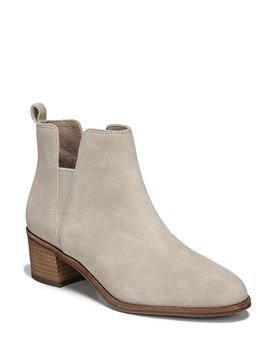 Amara Block Heel Booties by Generic
