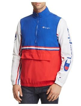Half Zip Pullover Windbreaker Jacket by Champion Reverse Weave