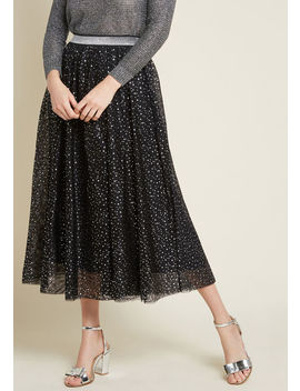 Starry Soiree Midi Skirt by Modcloth