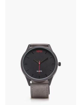 Grey Strap Watch by Boohoo