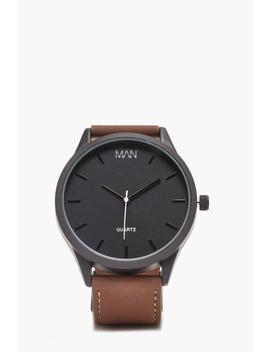 tan-classic-watch by boohoo