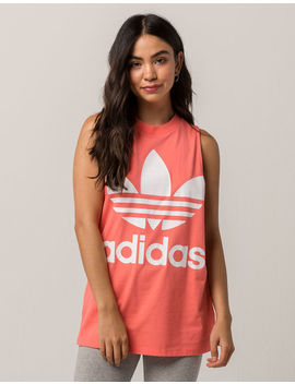 Adidas Trefoil Neon Pink & White Womens Muscle Tank Top by Adidas