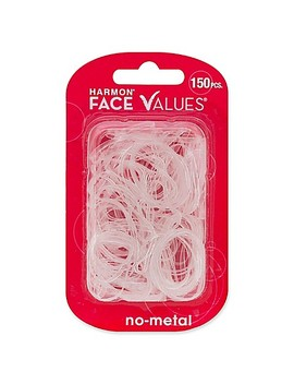 Harmon® Face Values™ 150 Count Elastic Band Ponytail Holders In Clear by Bed Bath And Beyond