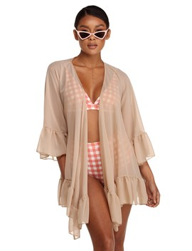 Final Sale  Bell Sleeve Chiffon Cover Up by Windsor