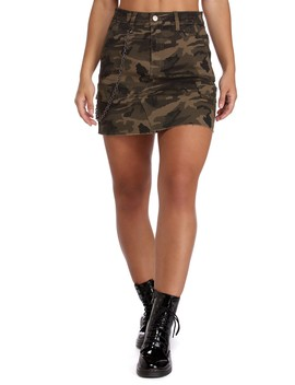 Chic In Camo Mini Skirt by Windsor
