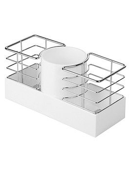 Inter Design® Luci Hair Care Organizer In White by Bed Bath And Beyond