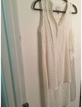 Hd In Paris Anthropologie Embroidered Panel Tunic Maxi Hi Lo Ivory Top Small by Hd In Paris