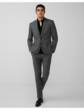 Extra Slim Gray Donegal Wool Blend Suit Jacket by Express
