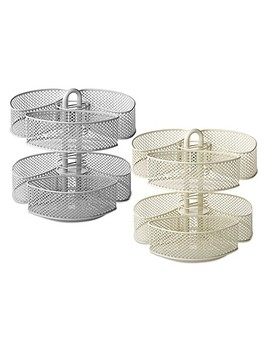 Mesh Cosmetic Organizer Carousel With Removable Baskets by Bed Bath And Beyond