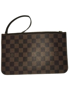 Neverfull Ebene Wristlet by Louis Vuitton