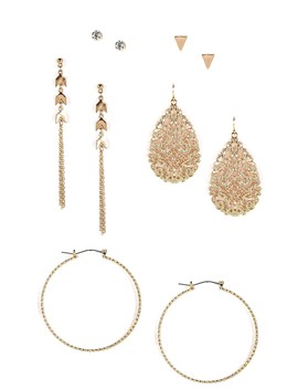 Stylin' Statement Earrings And Studs Set by Windsor