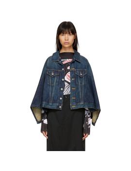 Indigo Denim Cape Effect Jacket by Junya Watanabe