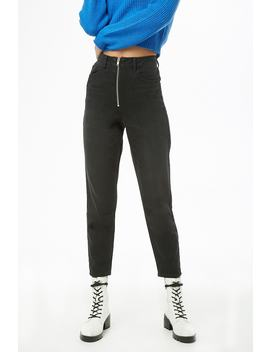 Zippered High Rise Jeans by Forever 21