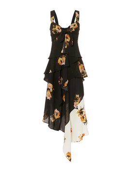 Natalia Two Tone Floral Dress by A.L.C.