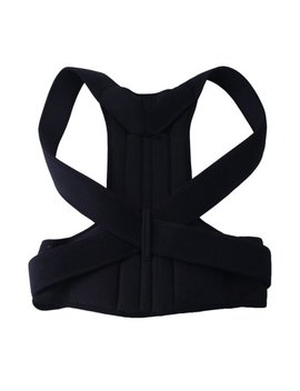 Unisex Adjustable Posture Correction Back Support Brace Shoulder Band Belt by Tryif