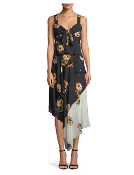 Natalia Tiered Floral Silk Dress by A.L.C.