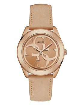 Rose Gold Tone Glitzy Triangle Watch by Guess