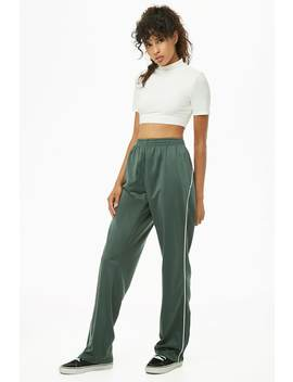 Piped Trim Track Pants by Forever 21