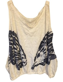 White Butterfly Tank Top/Cami by Free People
