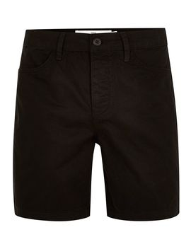 Black 5 Pocket Slim Shorts by Topman