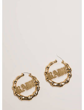 What A Babe Bamboo Hoop Earrings by Go Jane