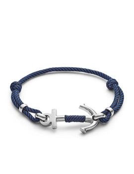 Blue Nylon Anchor Bracelet by Fossil