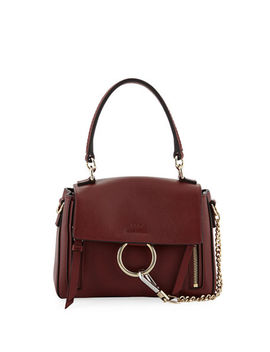 Faye Daye Mini Leather/Suede Shoulder Bag by Chloe