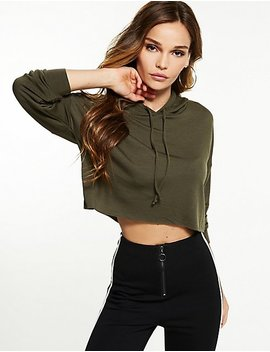 Cropped Hoodie Sweater by Charlotte Russe