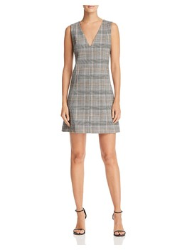 Easy Plaid Dress by Theory