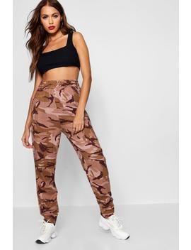 Camo Sweat Jogger by Boohoo