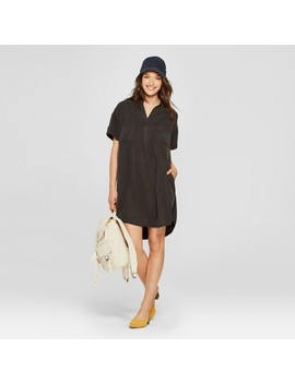 Women's Short Sleeve Shirt Dress   Universal Thread™ Black by Shop All Universal Thread™