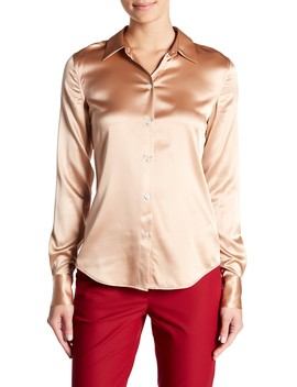 Perfect Fitted Silk Blend Shirt by Theory