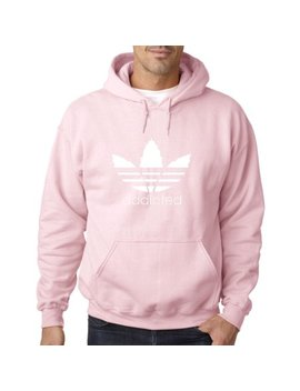 New Way 648   Hoodie Addicted Smoking Adidas Parody Logo Sweatshirt by Adidas