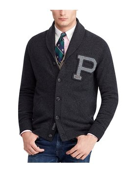 Merino Wool Shawl Cardigan by Generic