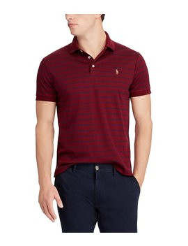Striped Classic Fit Soft Touch Short Sleeve Polo Shirt by Generic