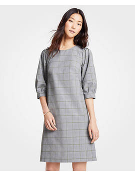 Plaid Shift Dress by Ann Taylor