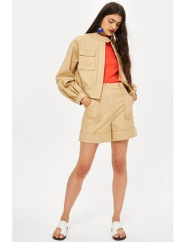 Patch Pocket Crop Jacket And Utility Shorts by Topshop