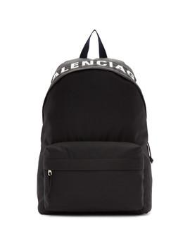 Black & Navy Wheel Backpack by Balenciaga