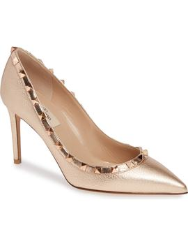 Rockstud Pointy Toe Pump by Valentino Garavani