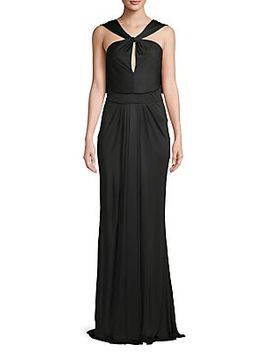 Studded Asymmetrical Gown by Zac Posen